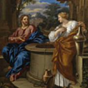 Christ And The Woman Of Samaria Art Print