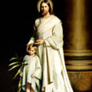 Christ And The Young Child Art Print