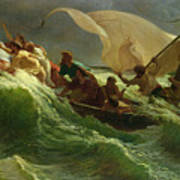 Christ Asleep In His Boat  Art Print