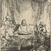 Christ At Emmaus: The Larger Plate Art Print