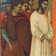 Christ Before Pilate Fragment 1311 Art Print