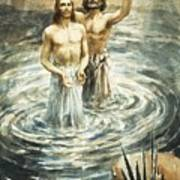 Christ Being Baptised Art Print