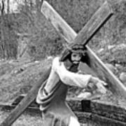 Christ Carrying Cross, Vadito, New Mexico, March 30, 2016 Art Print