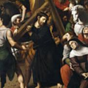 Christ Carrying The Cross Art Print