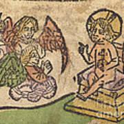 Christ Child With Three Angels Art Print