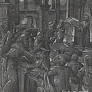 Christ Disputing With The Doctors Art Print