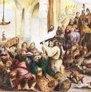 Christ Driving Out The Money Changers Art Print