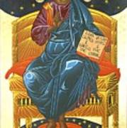Christ Enthroned Icon  Art Print