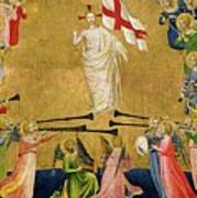 Christ Glorified In The Court Of Heaven Art Print by Fra Angelico