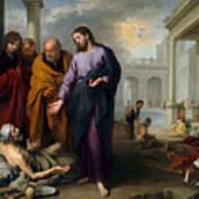 Christ Healing At Pool Of Bethesda Art Print