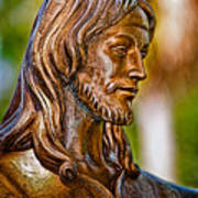 Christ In Bronze Art Print by Christopher Holmes