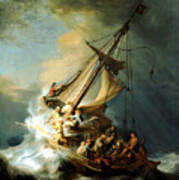 Christ In The Storm Art Print by Rembrandt