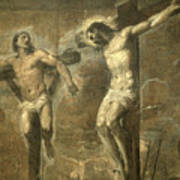 Christ On The Cross And The Good Thief Art Print