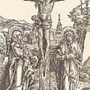 Christ On The Cross Between The Virgin And Saint John Art Print