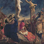 Christ On The Cross Art Print by Delacroix