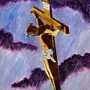 Christ On The Cross Art Print by Michael Vigliotti