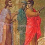 Christ On The Road To Emmaus Fragment 1311 Art Print