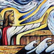 Christ Rebukes The Wind And Waves Art Print