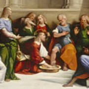 Christ Washing The Disciples' Feet Art Print