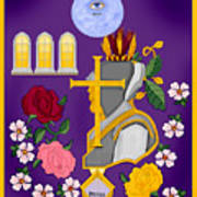 Christian Knights Of The Cross And Rose Art Print