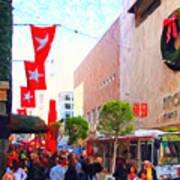 Christmas At Macys In San Francisco . Photoart Art Print