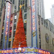 Christmas At Radio City Music Hall Art Print