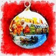 Christmas Ball Ball Art Print