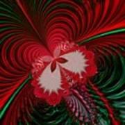 Christmas Butterfly Fractal 63 Art Print
