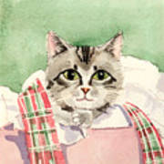 Christmas Cat Art Print