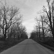 Christmas Day Country Road Art Print