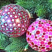 Christmas Dots No. 1-1 Art Print