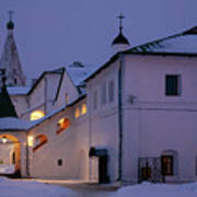 Christmas Evening Light In The Temple Suzdal Art Print