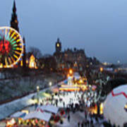 Christmas Fair Edinburgh Scotland Art Print