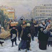 Christmas Fair  Print by Heinrich Matvejevich Maniser