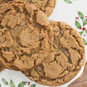 Christmas Gingerbread Cookies Art Print