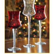 Christmas Glass Candle Holders Art Print
