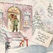 Christmas Greeting Card 36 - Snowy Winter Eve  Art Print