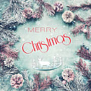 Christmas Greeting Card, By Imagineisle Art Print