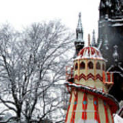 Christmas Helter Skelter Scotland Art Print