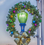 Christmas Holiday Wreath With Balls Art Print