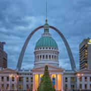 Christmas Jefferson National Expansion Memorial St Louis 7r2_dsc3574_12112017 Art Print
