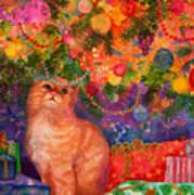 Christmas Kitty Art Print