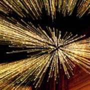 Christmas Lights Zoom Blur II Art Print