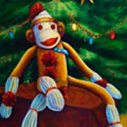 Christmas Made Of Sockies Art Print