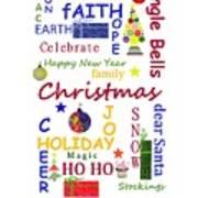 Christmas Message  -  Typography Art Print