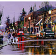 Christmas On Main Street Art Print