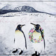 Christmas Penguins Art Print