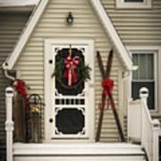 Christmas Porch Art Print