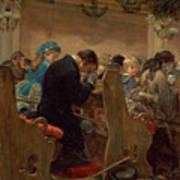 Christmas Prayers Art Print by Henry Bacon