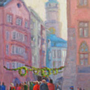 Christmas Shopping - Innsbruck Art Print